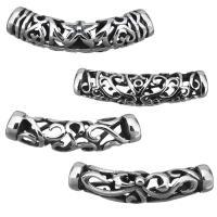 Edelstahlrohr Perlen, Edelstahl, verschiedene Stile für Wahl & hohl & Schwärzen, Bohrung:ca. 6mm, 10PCs/Menge, verkauft von Menge
