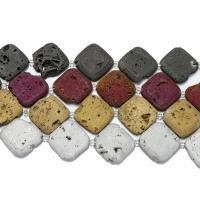 Laugh Rift Achat Perle, Squaredelle, keine, 28-30x28-30x6-7mm, Bohrung:ca. 1.5mm, ca. 6PCs/Strang, verkauft per ca. 8 ZollInch Strang