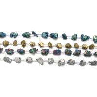 Natürlicher Quarz Perlen Schmuck, plattiert, keine, 12-17x7-12x7-12mm, Bohrung:ca. 1mm, ca. 20PCs/Strang, verkauft per ca. 16 ZollInch Strang