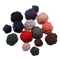 Acryl Perle, Blume, verschiedene Größen vorhanden & gummierte, gemischte Farben, Bohrung:ca. 1mm, verkauft von Tasche