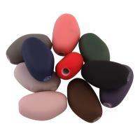 Acryl Perle, gummierte, gemischte Farben, 24.50x15x10mm, Bohrung:ca. 2mm, ca. 195PCs/Tasche, verkauft von Tasche