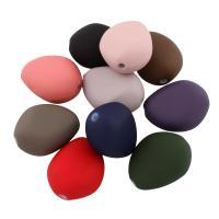 Acryl Perle, gummierte, gemischte Farben, 37x29x20mm, Bohrung:ca. 4mm, ca. 39PCs/Tasche, verkauft von Tasche
