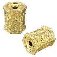Messing Schmuckperlen, vergoldet, 12.50x14x11mm, Bohrung:ca. 2.5mm, 20PCs/Menge, verkauft von Menge