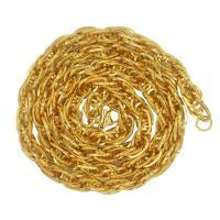Zinklegierung Kette Halskette, goldfarben plattiert, kompulizierte Kette & unisex, frei von Nickel, Blei & Kadmium, 10mm, verkauft per ca. 29.5 ZollInch Strang