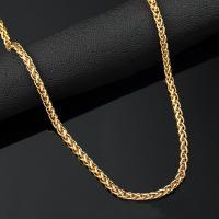 Zinklegierung Kette Halskette, goldfarben plattiert, kompulizierte Kette & unisex, frei von Nickel, Blei & Kadmium, 5mm, verkauft per ca. 29.5 ZollInch Strang
