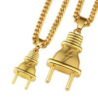 Zinklegierung Pullover Halskette, Stecker, goldfarben plattiert, verschiedene Größen vorhanden & Kandare Kette & für Frau, frei von Nickel, Blei & Kadmium, verkauft von Strang