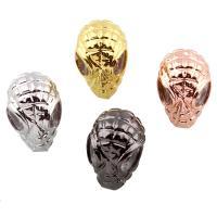 Befestigte Zirkonia Perlen, Messing, Alien, plattiert, Micro pave Zirkonia, keine, frei von Nickel, Blei & Kadmium, 9x13.50x10mm, Bohrung:ca. 1mm, verkauft von PC