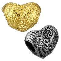 Edelstahl European Perlen, Herz, plattiert, ohne troll, keine, 16x12.50x10mm, Bohrung:ca. 5mm, 10PCs/Tasche, verkauft von Tasche