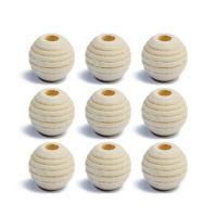 Holzperlen, Holz, rund, originale Farbe, 12mm, Bohrung:ca. 4mm, 50PCs/Tasche, verkauft von Tasche