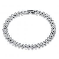 comeon® Schmuck Armband, 925 Sterling Silber, mit Verlängerungskettchen von 1.96lnch, platiniert, für Frau & mit kubischem Zirkonia, verkauft per ca. 7.2 ZollInch Strang