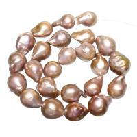 Natürliche Süßwasser, lose Perlen, Natürliche kultivierte Süßwasserperlen, violett, 13-15mm, Bohrung:ca. 0.8mm, verkauft per ca. 15 ZollInch Strang