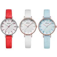 MEIBIN® Damen Schmuck Uhren, PU Leder, mit Glas & Edelstahl, plattiert, für Frau, keine, 27x9mm, Länge:ca. 8 ZollInch, verkauft von PC