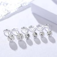 Sterling Silber Schmuck Ohrring, 925 Sterling Silber, hypoallergenic & verschiedene Größen vorhanden & für Frau & Falten, verkauft von Paar