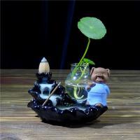 Porcelain Backflow Incense Burner, Porzellan, mit Glas, verschiedene Stile für Wahl, verkauft von PC