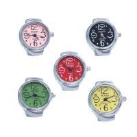 Fingerring Uhr, Edelstahl, mit Legierung & Glas, unisex, keine, frei von Nickel, Blei & Kadmium, 24x8mm, Größe:4.5-9.5, verkauft von PC