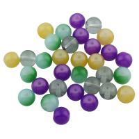 Harz Schmuckperlen, rund, keine, 8mm, Bohrung:ca. 1mm, 100PCs/Tasche, verkauft von Tasche