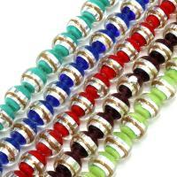 Handgewickelte Perlen, Lampwork, verschiedene Größen vorhanden, keine, Bohrung:ca. 2mm, verkauft per ca. 9 ZollInch Strang