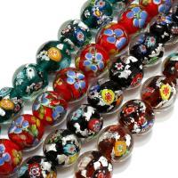 Handgewickelte Perlen, Lampwork, verschiedene Größen vorhanden, keine, Bohrung:ca. 4mm, verkauft per ca. 8.5 ZollInch Strang