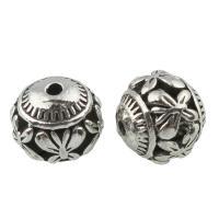 Zink Legierung Perlen Schmuck, Zinklegierung, rund, antik silberfarben plattiert, frei von Blei & Kadmium, 10mm, Bohrung:ca. 1.2mm, verkauft von PC
