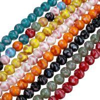 Lampwork Großes Loch Perlen, rund, keine, 10mm, Bohrung:ca. 3mm, ca. 40PCs/Strang, verkauft per ca. 11 ZollInch Strang