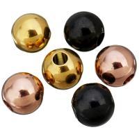 Edelstahl-Perlen mit großem Loch, Edelstahl, rund, plattiert, keine, 11x12x11mm, Bohrung:ca. 4mm, 100PCs/Menge, verkauft von Menge
