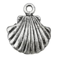 Zinklegierung Tier Anhänger, Schale, antik silberfarben plattiert, frei von Nickel, Blei & Kadmium, 15x18x2.50mm, Bohrung:ca. 2mm, Innendurchmesser:ca. 1mm, ca. 200PCs/Tasche, verkauft von Tasche