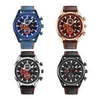 MINIFOCUS® Uhrenkollektion, Leder, mit Glas & Edelstahl & Zinklegierung, plattiert, einstellbar & für den Menschen, keine, 43.5x12.7mm, Länge:ca. 10 ZollInch, verkauft von PC