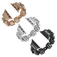 Uhrenarmbänder, Messing, plattiert, für Apfel-watch & mit Strass, keine, frei von Nickel, Blei & Kadmium, 32mm, verkauft von PC