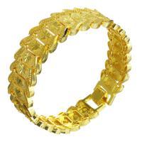 Messing-Armbänder, Messing, 24 K vergoldet, unisex, 18mm, verkauft per ca. 8 ZollInch Strang