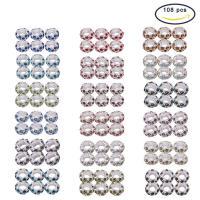 Zinklegierung European Perlen, mit Kunststoff Kasten, Rondell, Platinfarbe platiniert, ohne troll & mit Strass, gemischte Farben, frei von Blei & Kadmium, 6x11mm, Bohrung:ca. 5mm, 108PCs/Box, verkauft von Box