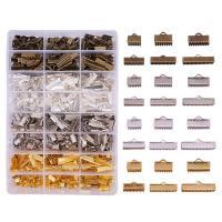 Eisen Anhängerschlaufe, mit Kunststoff Kasten, plattiert, gemischt, frei von Blei & Kadmium, 680PCs/Box, verkauft von Box