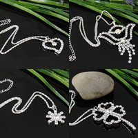 Claw Chain Rhinestone Necklace