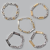 Two Tone Stainless Steel Bracelets