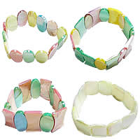 Color Plated Shell Bracelets