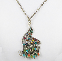 Zinc Alloy Rhinestone Iron Necklace