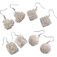 Iron Wire Ball Earring